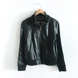 Danier leather bomber jacket - size Small